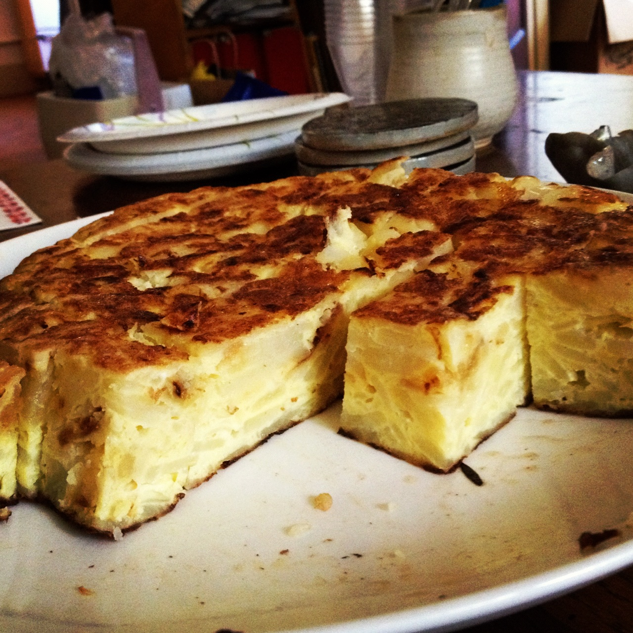 My rendition of Tortilla Espanola (Spanish Tortilla ) doesn't look too bad
