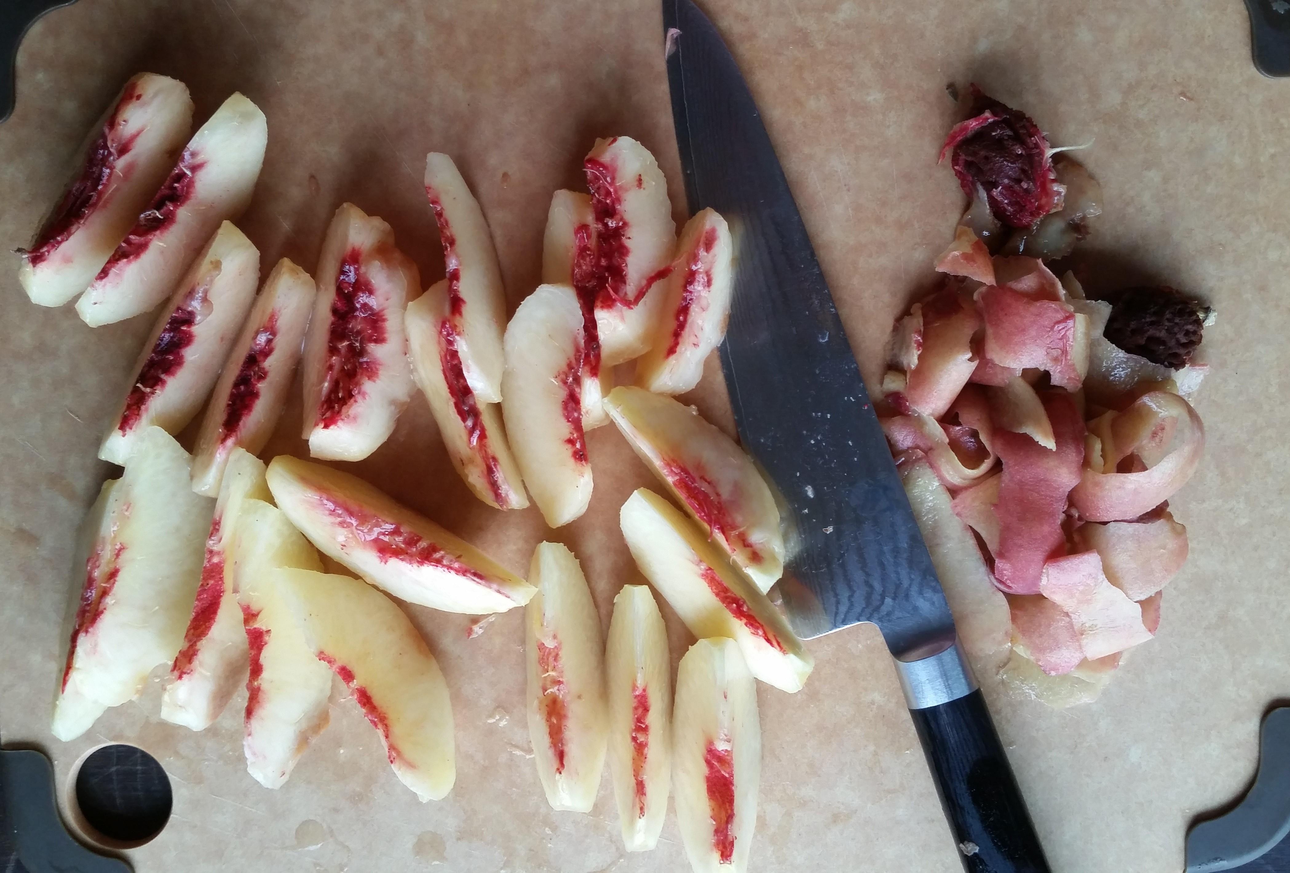 20150730 071630 e1438924882441 - Vanilla Mousse with Sauteed Peaches